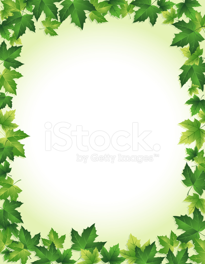 green leaf border stock vector. Black Bedroom Furniture Sets. Home Design Ideas