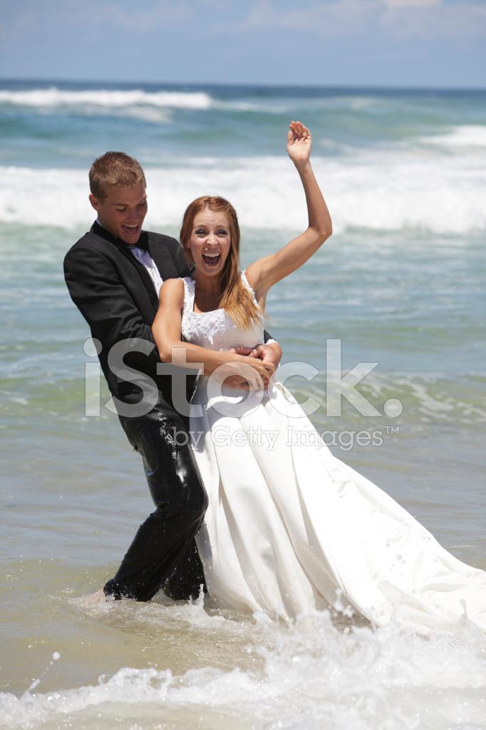 Trash The Dress Beach Wedding Stock Photos Freeimages Com