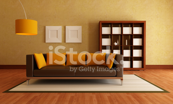 Braun UND Orange Wohnzimmer Stockfotos - FreeImages.com