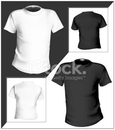 T Shirt Design Template (front & Black and Stock Vector - FreeImages.com