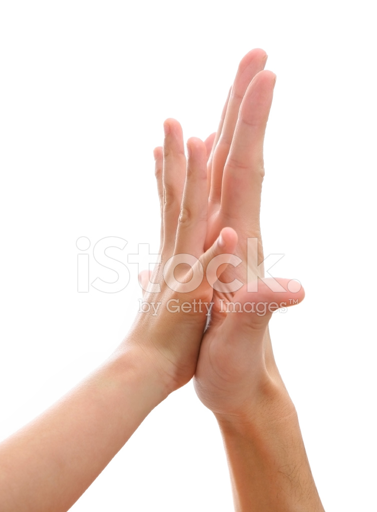 two hands making hi five gesture stock photos freeimages com