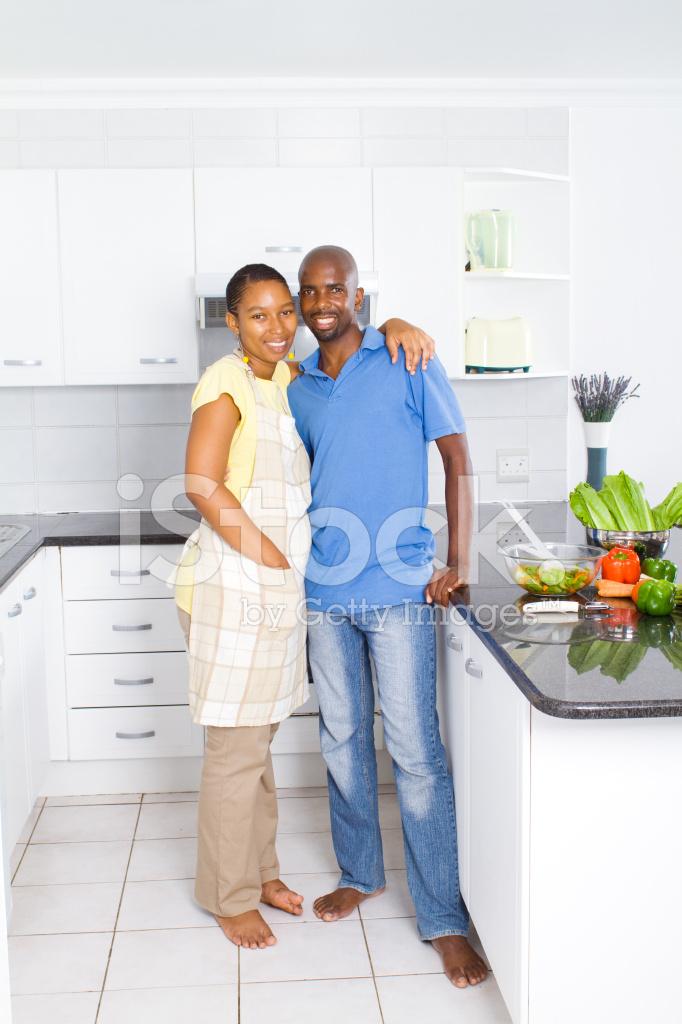 Coppia Afro Americana IN Cucina Fotografie stock - FreeImages.com