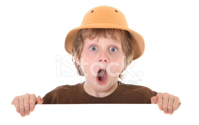 Surprised Boy With Pith Helmet Stock Photos - FreeImages.com b54b676dbce