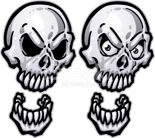 toon skull with removable eyes stock vector freeimages com