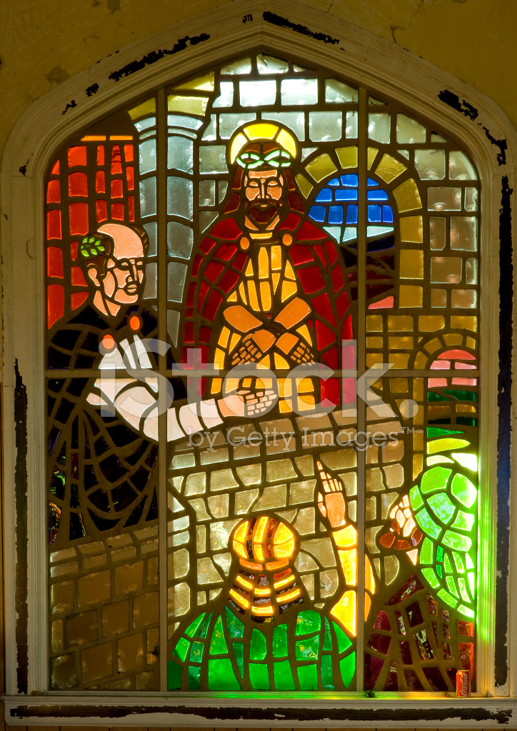 Premium Stock Photo Of Stained Glass Window Judgment Jesus Christ BY Pontius Pilate