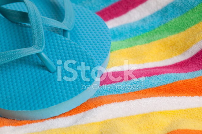 25d90992cecca Flip Flops AM Strand Handtuch Stockfotos - FreeImages.com
