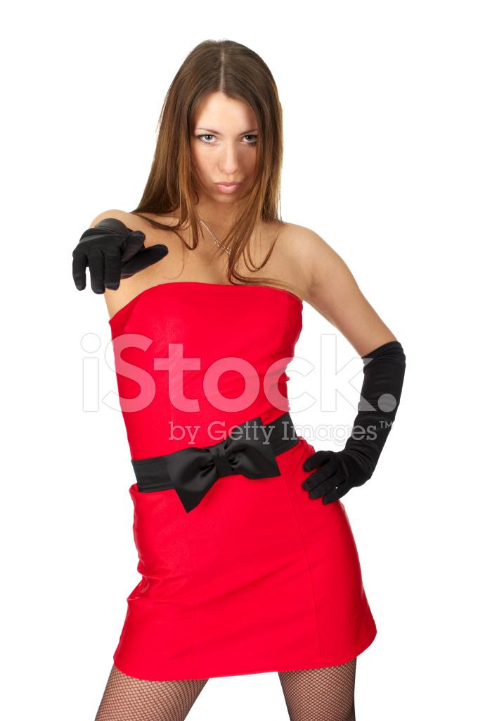 e68e2842f6d77e Mooi Meisje IN Kleine Rode Jurk Stockfoto s - FreeImages.com