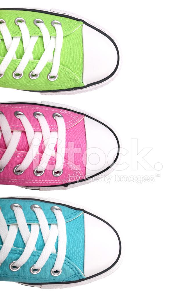 White Shoe Lace Pink Border