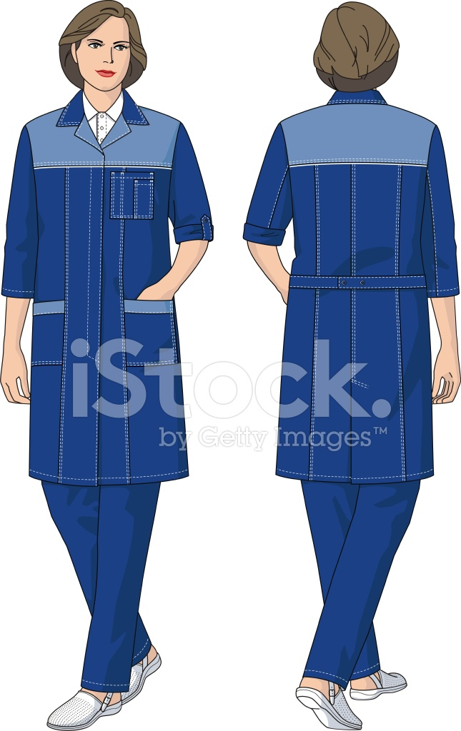 The Woman IN A Dressing Gown Stock Vector - FreeImages.com