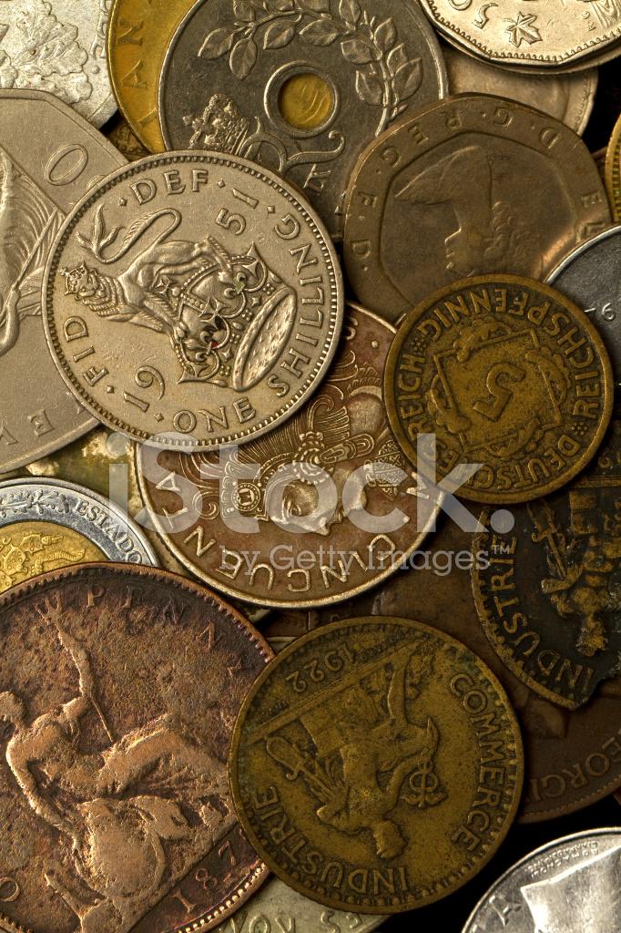 Ausländische Münzen Stockfotos Freeimagescom
