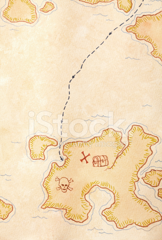 Pirate Treasure Map, X Marks The Full Stock Photos - FreeImages.com