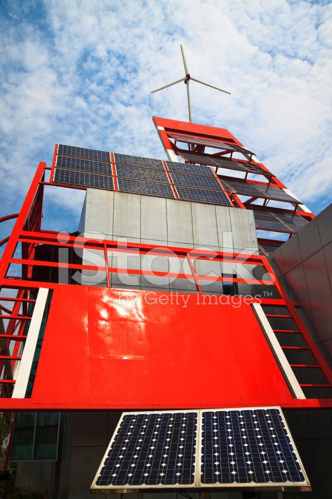 Solar Panels And Wind Farm Stock Photos Freeimages Com