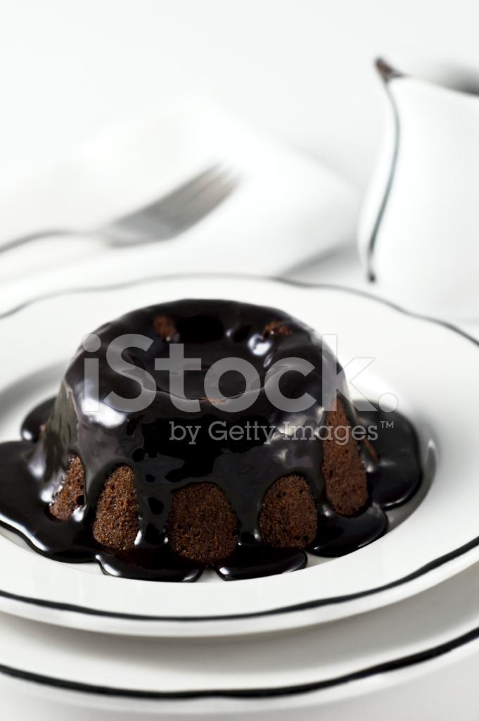 Schokolade Lava Vulkan Kuchen Stockfotos Freeimages Com