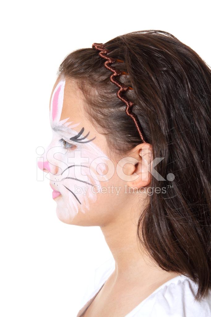 Tavşan Yüzü Boya Profili Stok Fotoğrafları Freeimagescom
