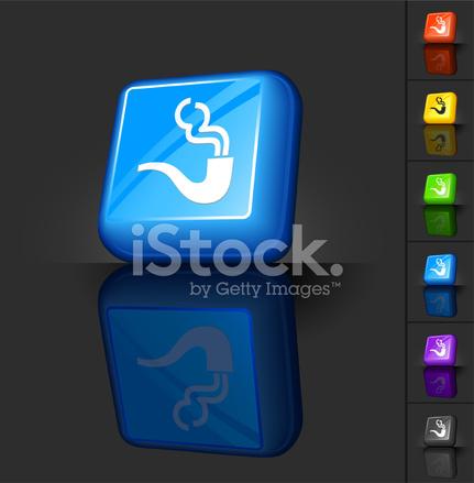 Smoking Pipe 3d Button Design Stock Vector - FreeImages com