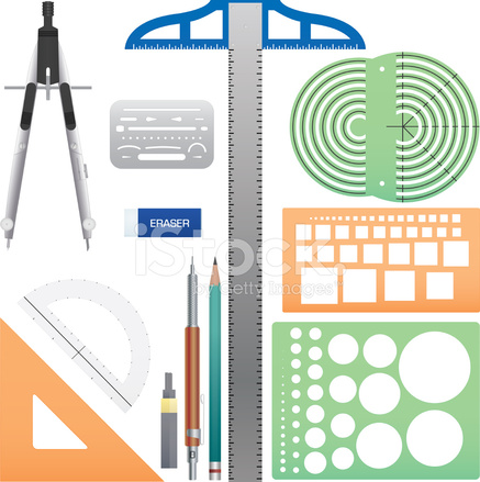 Drafting tools stock vector for Online drafting tool