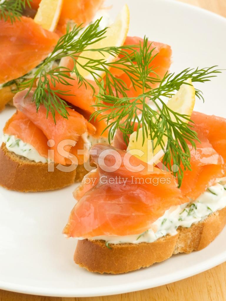 Бутерброд с семгой и лимоном рецепт с фото