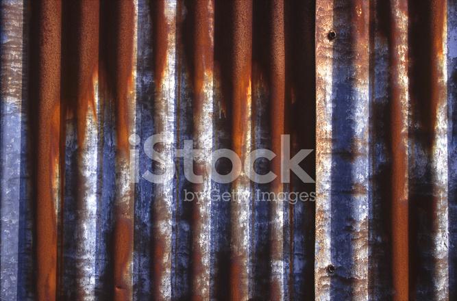 Entzuckend Gestreifte Rostige Metall Hintergrund