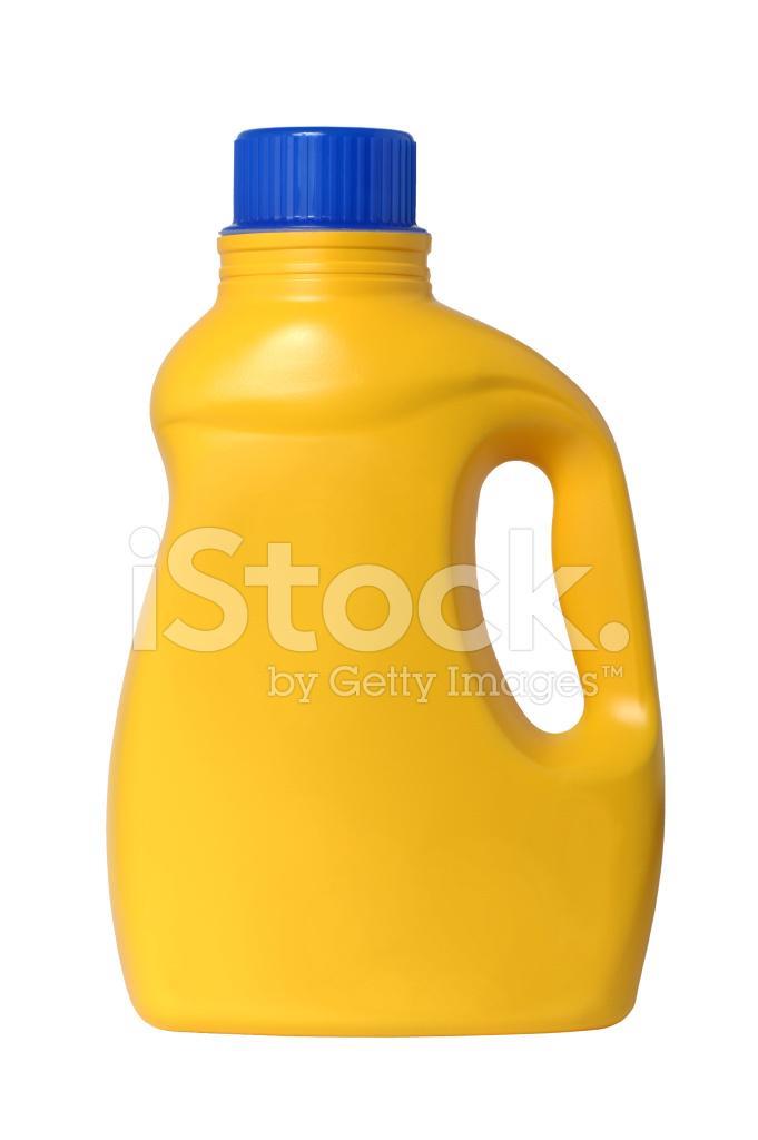 Plastic Laundry Detergent Bottle Isolated On White Background