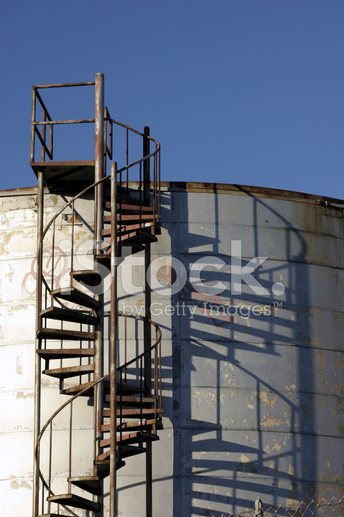 Premium Stock Photo Of Spiral Stairs AT Silo / Tank Industrial