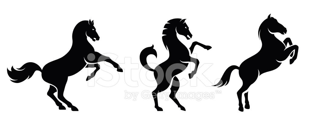 horse set stock vector