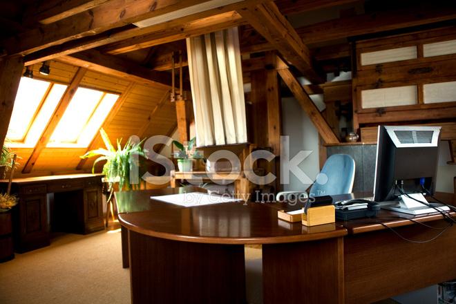 Moderna Kontor I Gamla Gammaldags Inredning Stockfoton ...