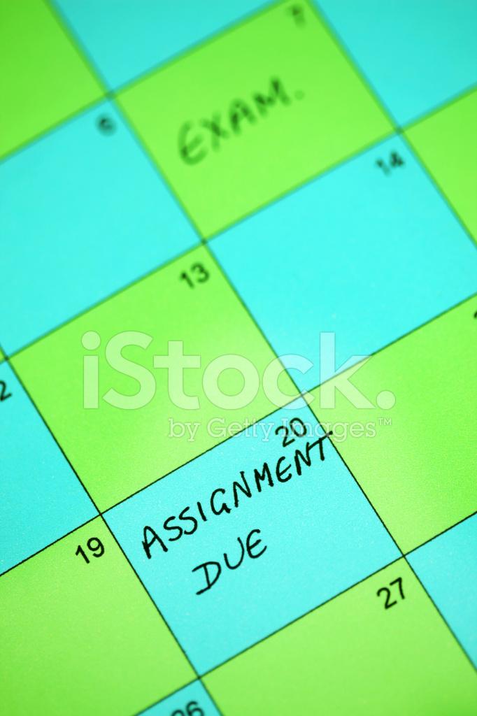 assignment due  stock photos
