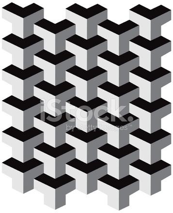 optische t uschung stock vector. Black Bedroom Furniture Sets. Home Design Ideas