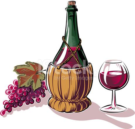 uva  fiasco e bicchiere di vino stock vector freeimages com wine glass clipart for silhouette wine glass clip art svg
