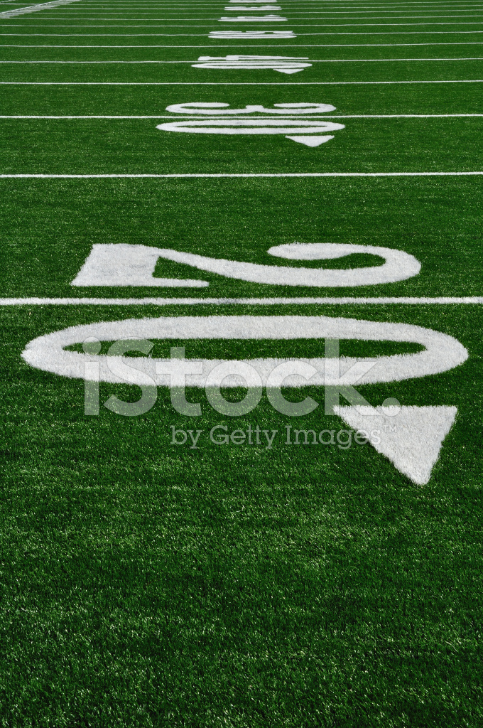 Twenty Yard Line on American Football Field stock photos - FreeImages.com