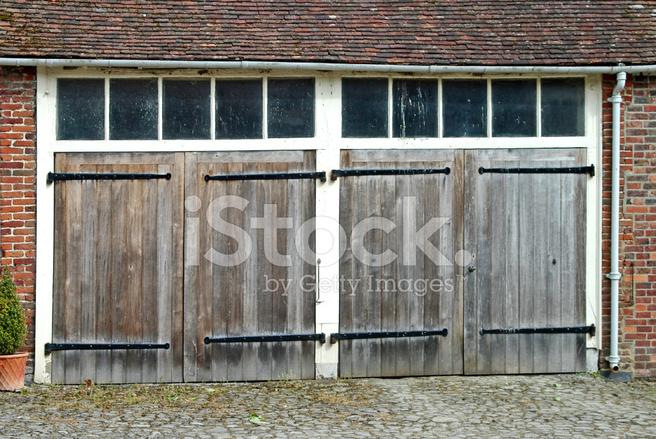 Old Wooden Garage Doors Stock Photos Freeimages