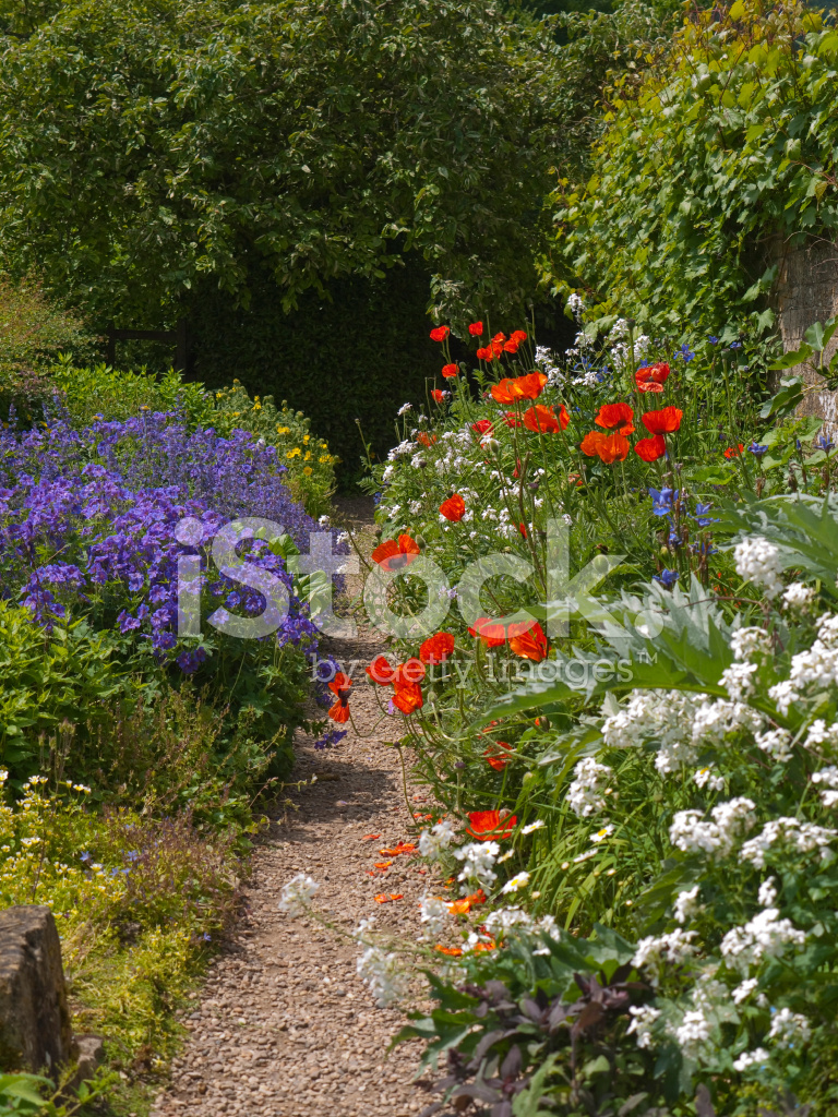 Beautiful Cottage Garden Path stock photos FreeImagescom