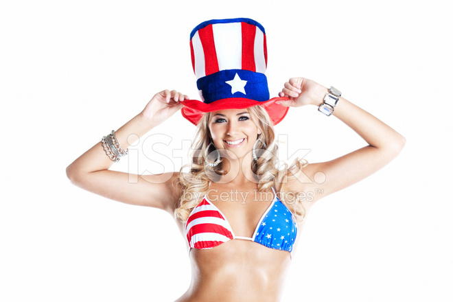 4th of July American Costume on Sexy Young Blond Woman  sc 1 st  FreeImages.com & 4th of July American Costume on Sexy Young Blond Woman Stock Photos ...