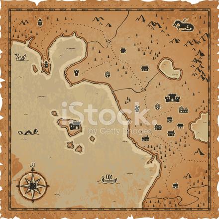Fantasy Karte.Fantasy Karte Stock Vector Freeimages Com