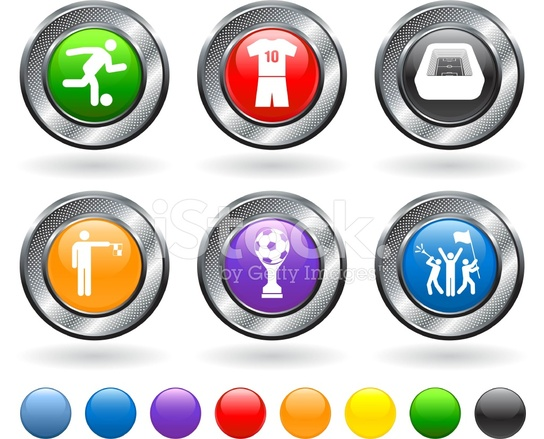 Fussball Symbole Lizenzfreie Kostenlose Vector Icon Set Stock
