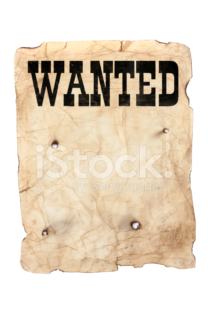 wanted sign template for word