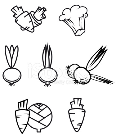 vegetable symbols stock vector freeimagescom