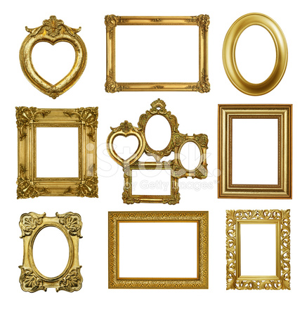 Set 2 of Antique Gold Frames Stock Photos - FreeImages.com