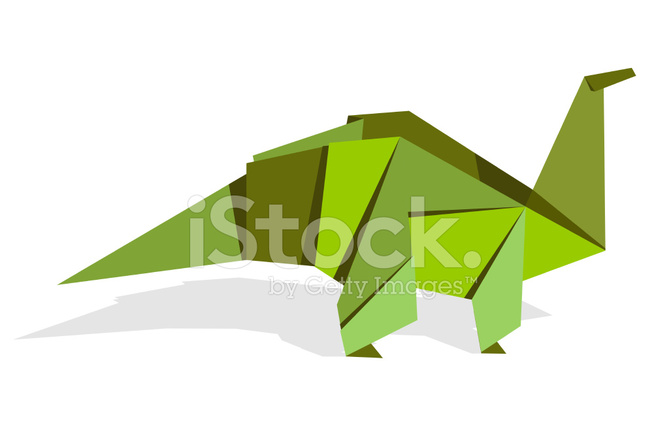 Dinosaurio DE Origami DE Colores Vibrantes Stock Vector FreeImagescom