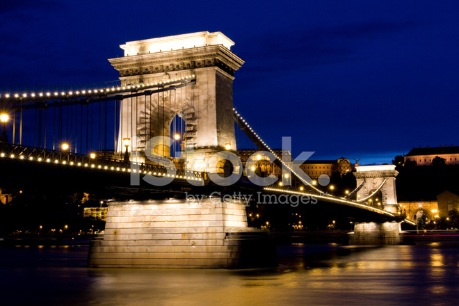 Szechenyi Chain Bridge Stock Photos Freeimages Com