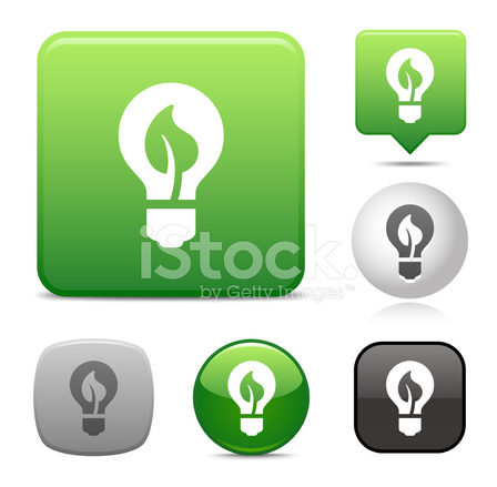 Green Light Bulb Icon Stock Vector Freeimages