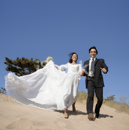 Remarkable Bride And Groom Running Stock Photos Freeimages Com Download Free Architecture Designs Scobabritishbridgeorg