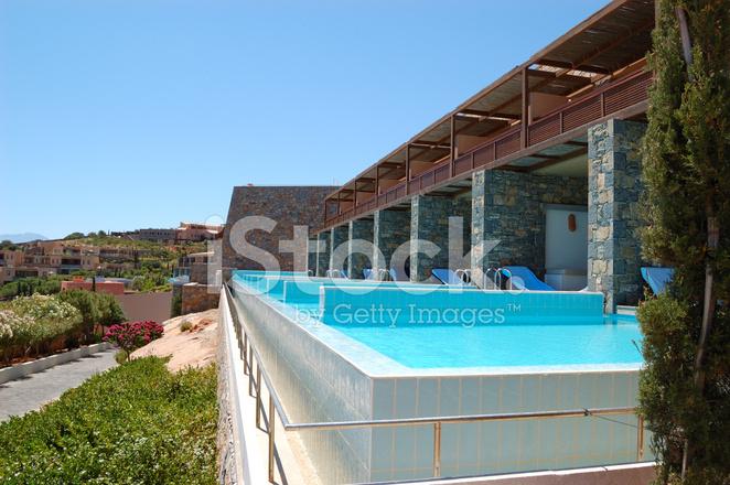 Premium Stock Photo Of Schwimmbad Im Modernen Luxus Villa, Kreta,  Griechenland