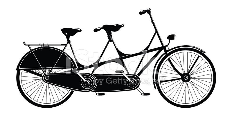 Bicicleta Tndem Blanco Y Negro fotografas de stock  FreeImagescom