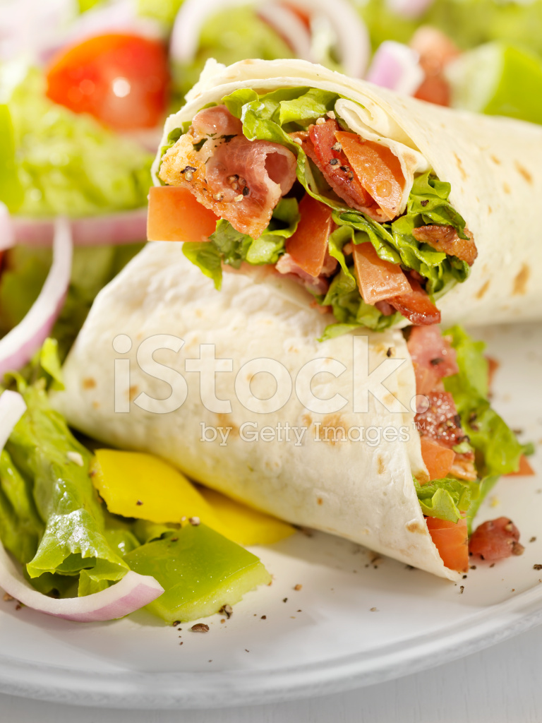 Blt Wrap Sandwich With A Salad stock photos - FreeImages.com