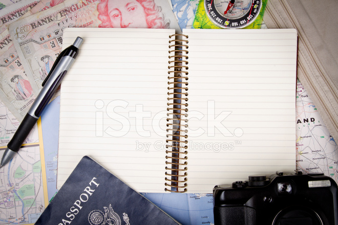Border Background With Travel Themes Stock Photos