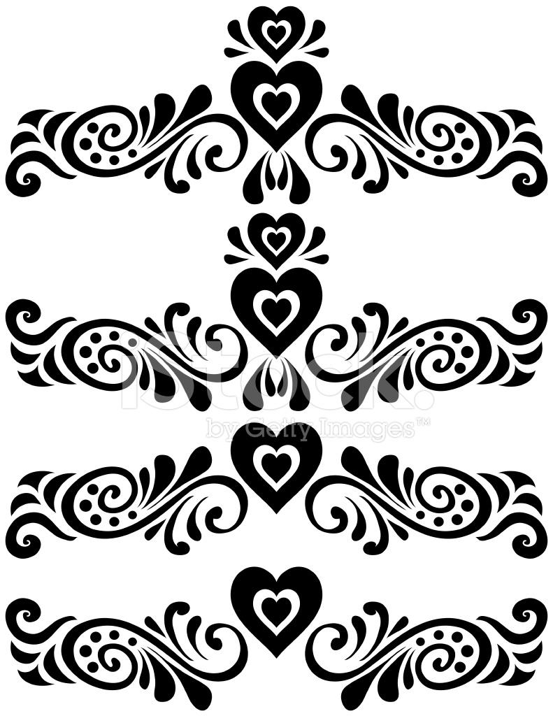 Hearts fancy scroll set stock vector freeimages hearts fancy scroll set buycottarizona