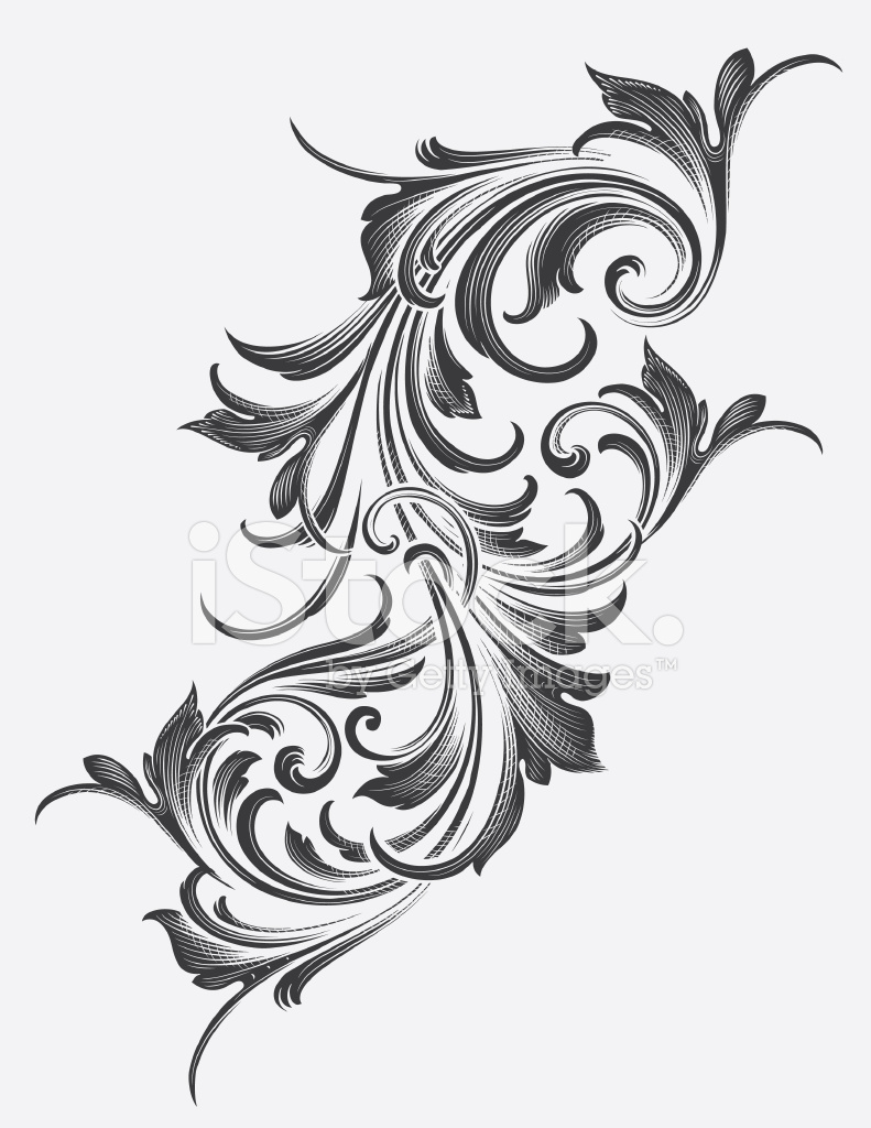 Victorian Acanthus Scrollwork Stock Vector - FreeImages.com