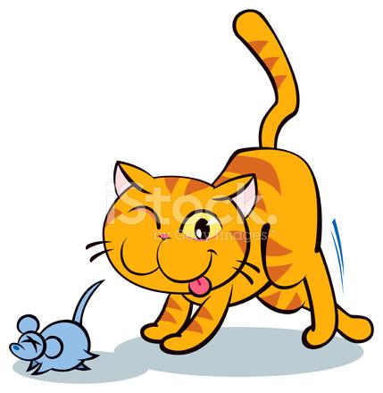 Кошка и мышки картинка для детей