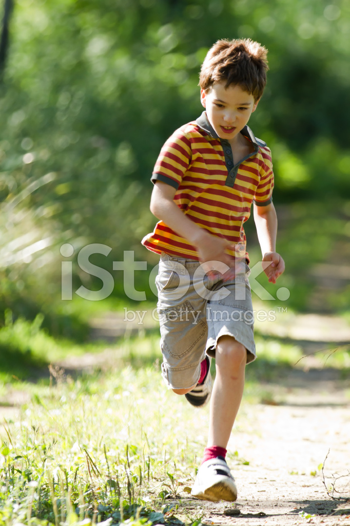 Young Boy Running In Nature Stock Photos - Freeimagescom-4497